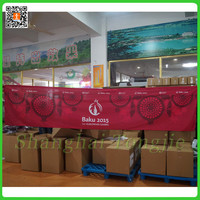Dye Sublimation Printing 100% Polyester Hanging Fabric Banner Sport Banner Design