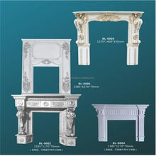 SO 9001 Hand Carved Indoor Decorative Marble Fireplace within wood frame