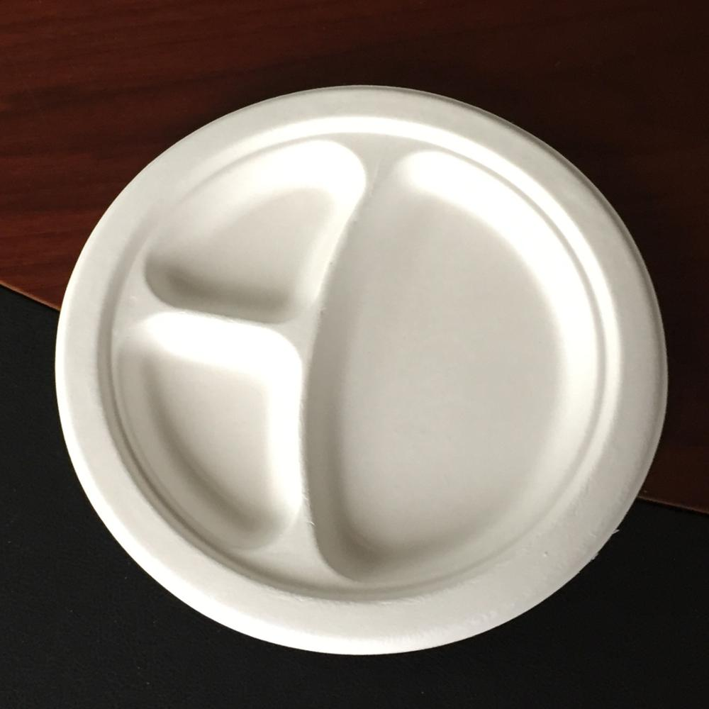 ON SELL!! compostable disposable paper plate 9 inch
