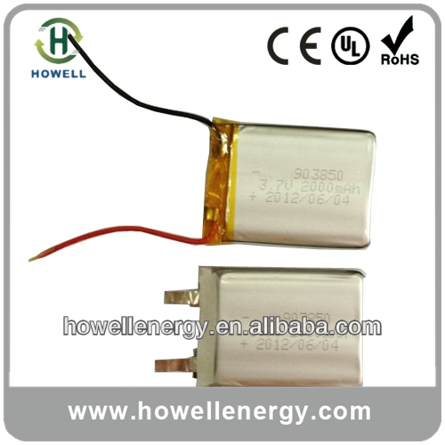 3.7v ultra thin lipo battery/ge power lipo battery/thin lipo battery