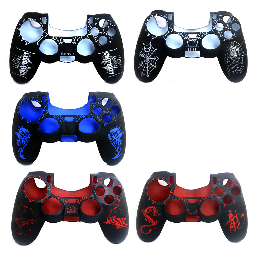 Silicone Skin Cover Case Skin Protective Cover for Sony PS4 Playstation 4 Controller Grip Handle