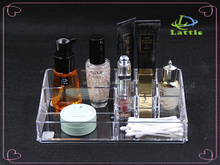 Custom Excellent Makeup Acrylic Cosmetic storage /transparent nail polish display case