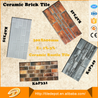 300*600cm heat resistant fire resistant red brick look ceramic wall tile