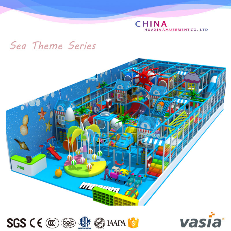 Kids newest large commercial child indoor soft playground equipment for home