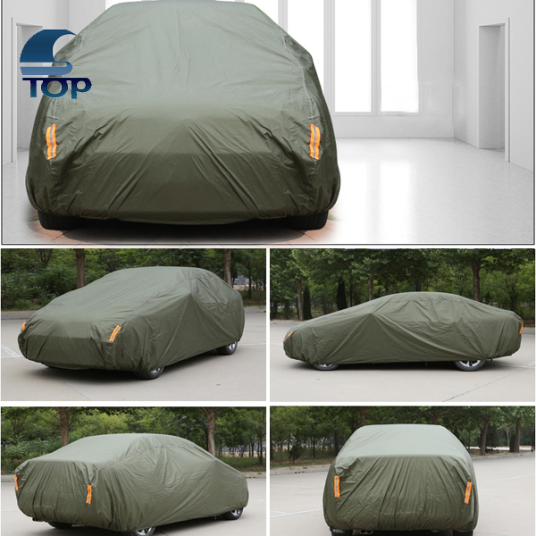 army green roller power driven electrical car cover