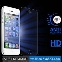 Factory Price! Anti blue light tempered glass for Iphone 5 Screen Protector OEM/ODM