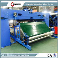 Stable quality automatic electrical needle punched nonwoven felt cross lapper machine