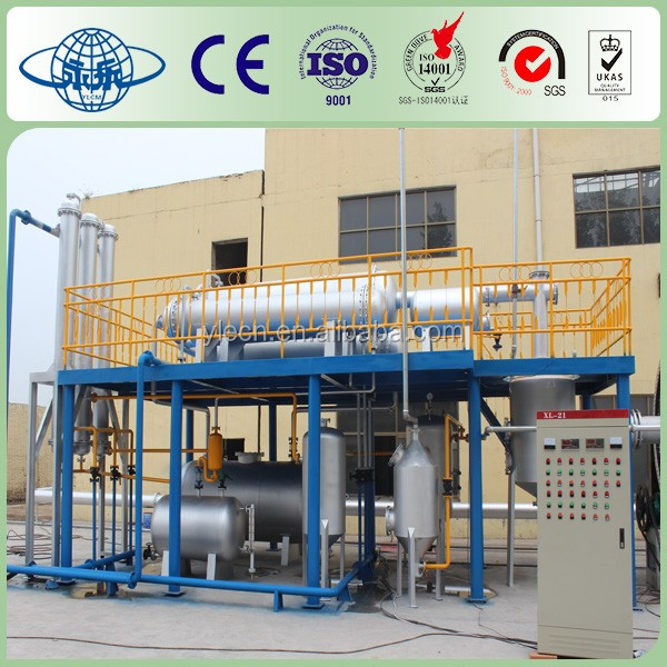 latest technology used tire recycling machine to fuel oil cheap sell