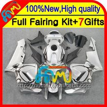 BodyInjection For HONDA CBR 600RR 600 RR Black flames 05 06 25CL49 CBR600 RR 05-06 F5 CBR600RR 2005 2006 Blk silver Fairing
