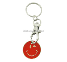 custom casting plated wholesale shopping metal emoji trolley token