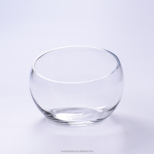 Wholesale clear oblique Wide Mouth glass fish bowl