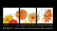 Gerbera painting wall clock, fashion home decorative painting
