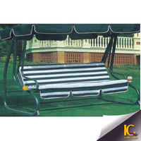 Lily 4 seats round cast aluminum set hammock sofa swing hanging chair