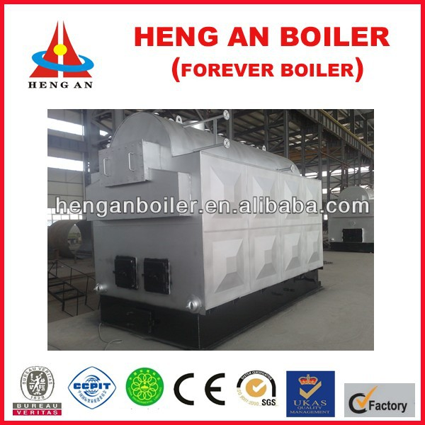big feeding window wood steam boiler