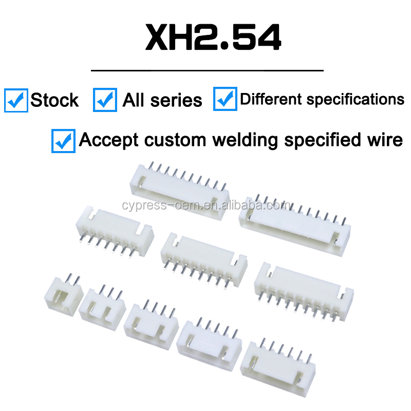 XH 2510 2.54mm pitch 6pin electric pin connector terminal