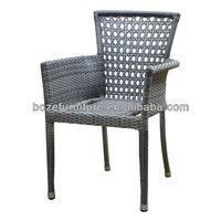 2015 fashion design Wicker/rattan coffee outdoor chair / muebles en aluminio