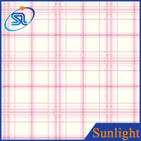 Sunlight D91603 Simple pink particular grid non-woven wallpaper 3d kids wallpaper