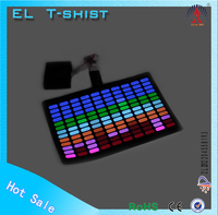 EL t shirt Flashing Sound Activated el tshirt Music Party LED tshirt