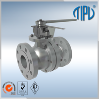 Worm Gear ball valve drawing handles for oil