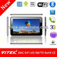 Internal 3G WiFi 7 inch Tab PC Front Speaker Tablet Android