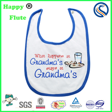 HappyFlute wholesales baby bids Custom Comfortable Bib Organic Cotton Unisex Baby Bib