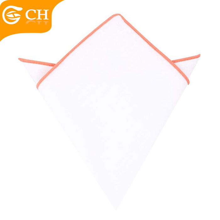 Hot selling mens woven white cotton handkerchief with high quality