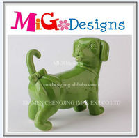 Wholesale And OEM Factory Manufacture Art Decor Green Dolomite Dog Statue