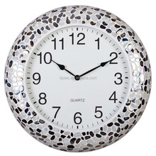 Metal with glass mosaic Shadow Wall Clock