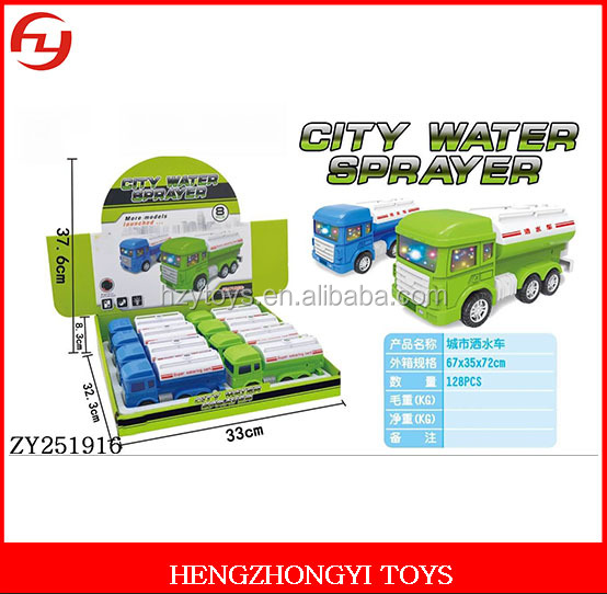 2017 electrical cartoon small city water sprayer car toys