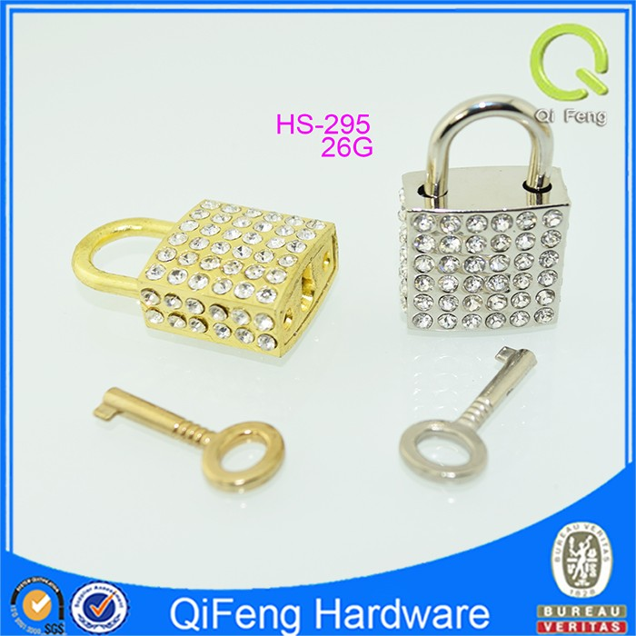 Guangzhou facory high quality wholesale new product HS-259 padlock with rhinestone and key