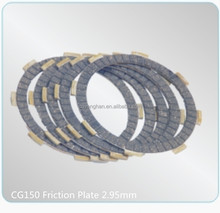 CG150 Friction Disc Motorcycle Spare Parts 2.95mm thickness