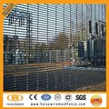 Anti-climb welded mesh panel fence