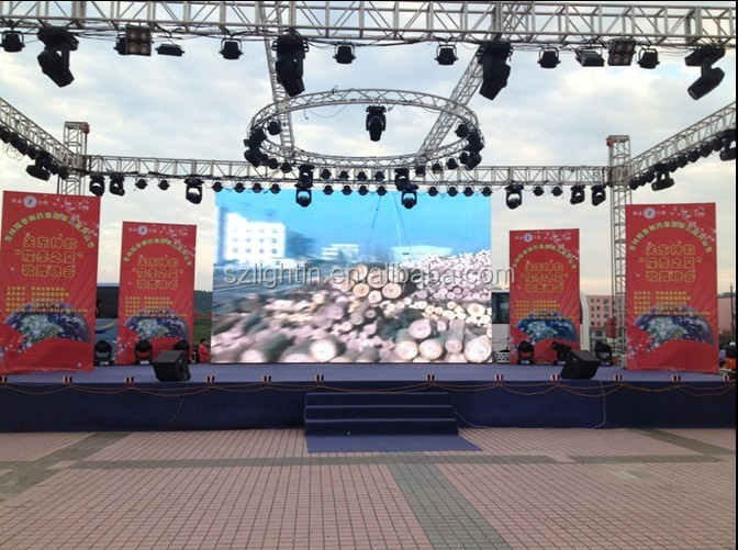 High Definition Video P4 Full Color Outdoor LED Stage Screen Portable LED Module Display