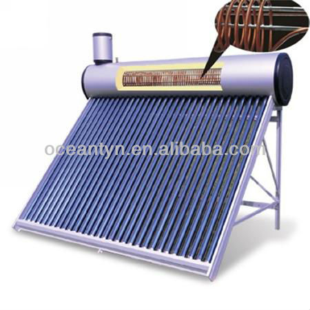 hot selling pre-heated pressurized solar water heater, pressure solar geysers solar boiler