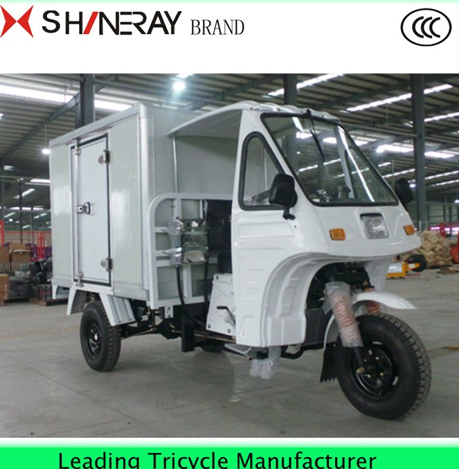Coffee Food car Enclosed tuk tuk 3 wheel truck cargo motorcycle tricycle for sale