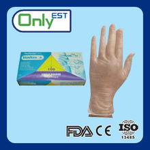 FDA standard AQL 1.5 disposable medical grade vinyl gloves with paper boxes
