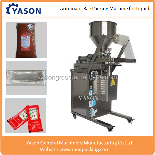 Automatic Liquid Bag Filling And Packing Machine For Slurry Paste Sauce ,Vinegar ,Soy ,Sauce Packet ,Milk