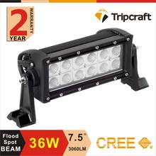 36w Crees car 12 volt led light bar 4X4 off road, ATV, UTV, SUV, forklift, led truck light