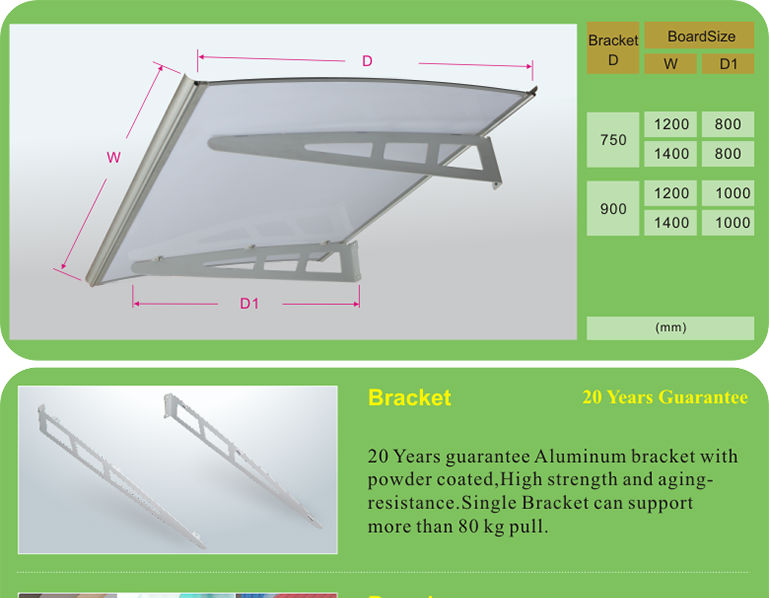 Aluminum Awning Roof Rain Protection Window Used Aluminum ...