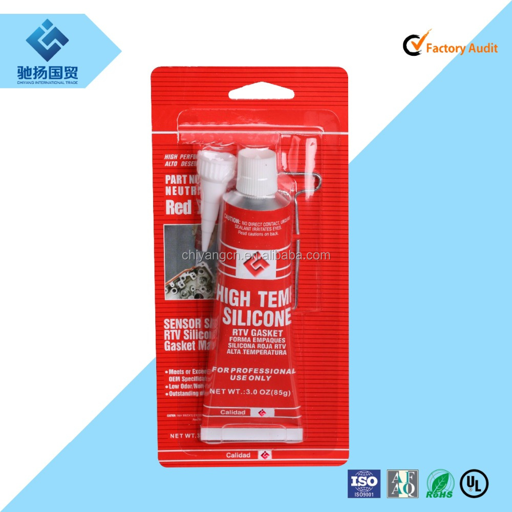 Acetoxy fast curing silcione main raw material Red RTV silicone gasket maker for car engine parts