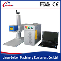 Portable 10w metal fiber laser marking machine price