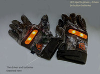 Sports gloves with glow for safety and fun