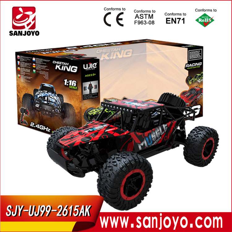 Toy Car SJY-UJ99-2615AK 1/16 Scale 2.4G 4WD Electric Mini High Speed RC Car