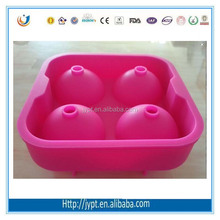 ball shape silicone ice cube tray with lid