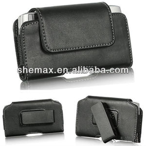 Horizontal Swivel Holster Black Leather Pouch Case For BlackBerry Z10 BB10 BB-10