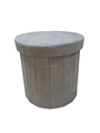 Top quality suede fabric round foldable Storage Stool