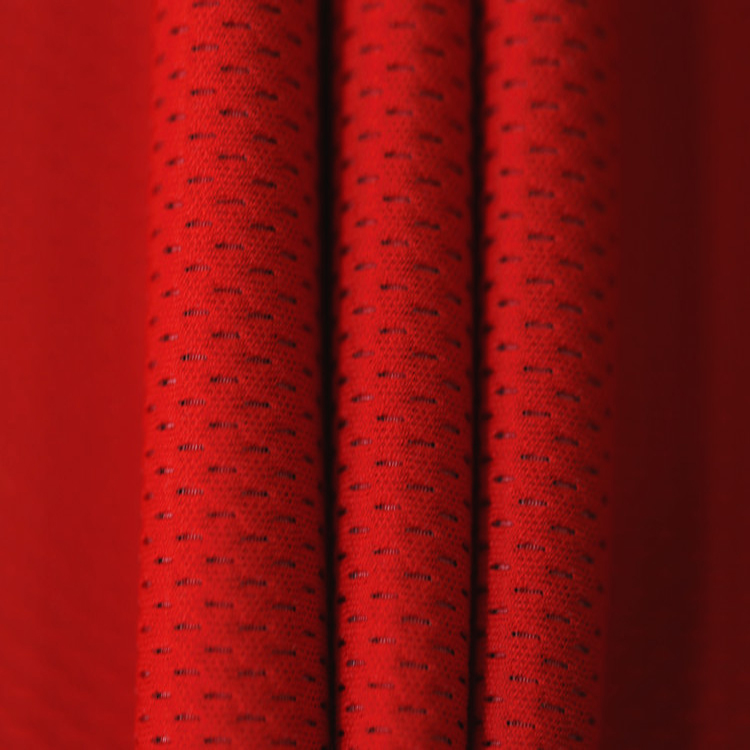 Newest Arrival Scuba Dress Material Red Polyester Mesh Fabric
