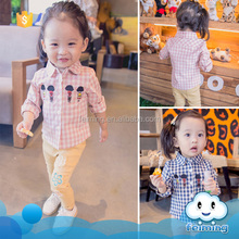 newest design baby girls' lovely print t shirts ,high quality custom cotton clothing for little children baby t-shirt wholesale