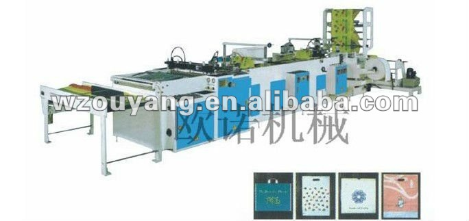 Plastic bag sealing and cutting machines