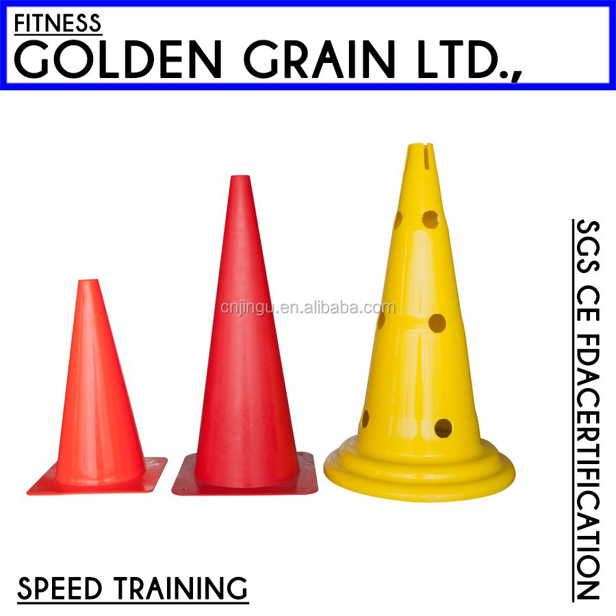High quality soccer training cone with holes